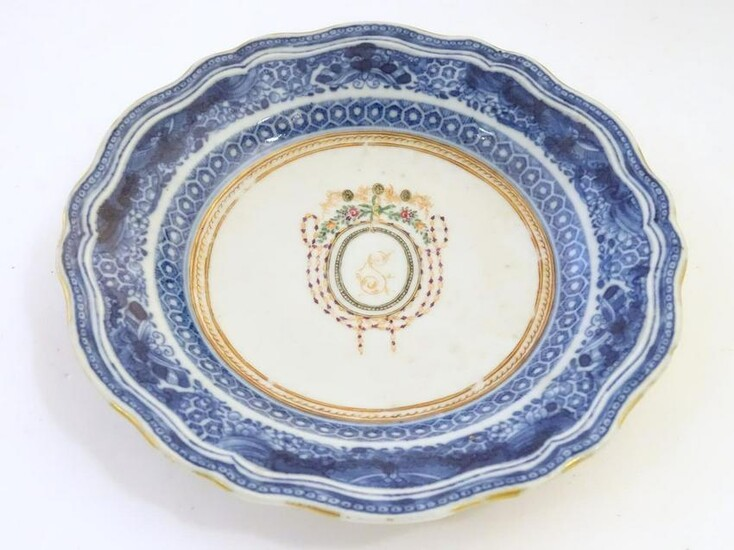 An 18th / 19thC Chinese export blue and white porcelain