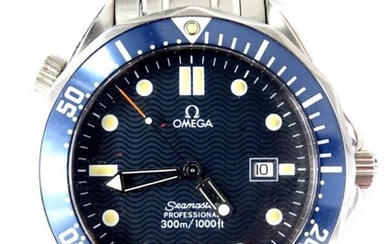 An Omega Seamaster professional wristwatch, waterproof to a depth...