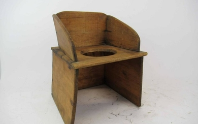 Antique Childs Wooden Potty Chair