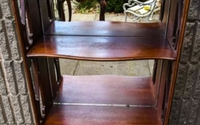 Antique English Regency Style Mirrored End Table