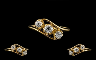 Antique Period - Attractive and Superb Quality 18ct Gold 3 S...