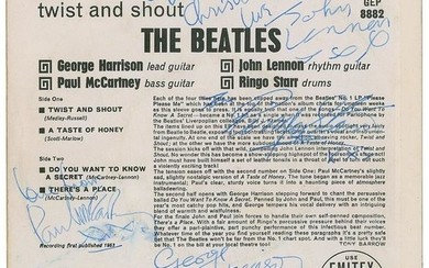 Beatles Signed 45 RPM Record