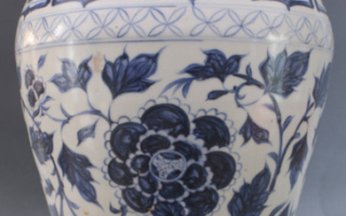 Blue and White Meiping shaped Vase