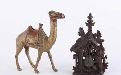Cast Iron Banks, Camel & Beehive, Late 19th C.
