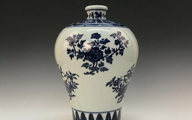Chinese Blue-White 'Floral' Meiping Vase, Yongzheng