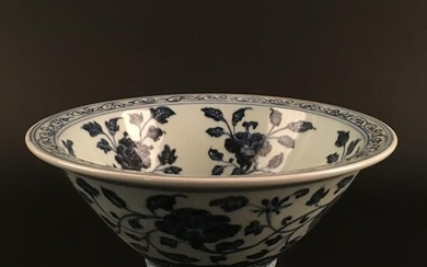 Chinese Blue-White Porcelain 'Flower' Bowl, Xuan De