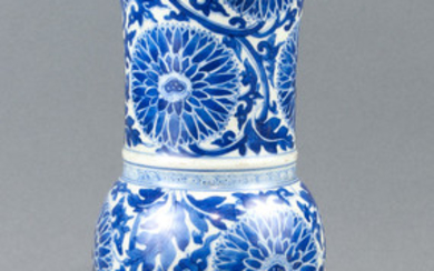 Chinese Blue and White Gu form Vase