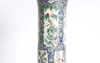 Chinese fine canton enameled vase, late 19th cent.