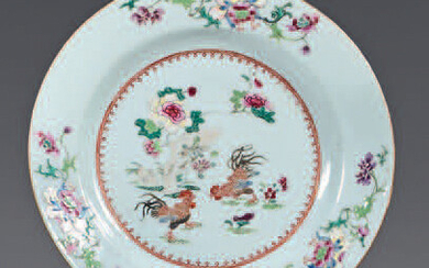 Chinese porcelain plate. Qianlong, 18th century.