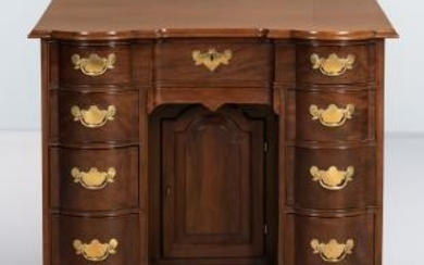 Chippendale Mahogany Block-front Bureau Table