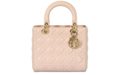 Christian Dior Light Pink Leather Medium Lady Dior
