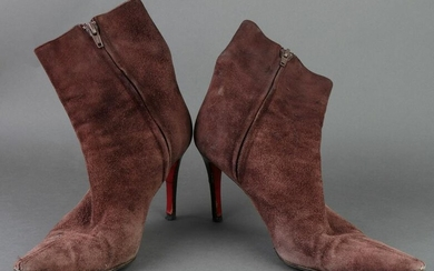 Christian Louboutin Suede Ankle Boots, Size 38
