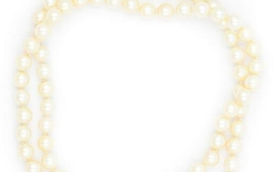Contemporary Endless Cultured Pearl Necklace