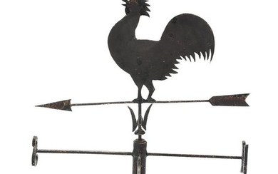 Crowing Rooster Iron Weather Vane