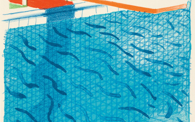 David Hockney, Pool Made with Paper and Blue Ink for Book, from Paper Pools (T.G. 269; M.C.A.T. 234)