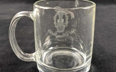 Disney Donald Duck Etched Expresso Style Mug By