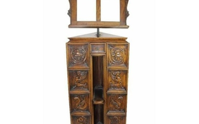 Early 20thc Italian Gothic Revival Carved Oak Lectern