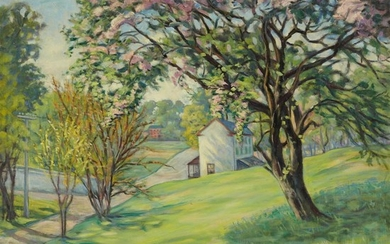 Elizabeth Fisher Washington (American, 1871–1953) Spring House Signed bottom...