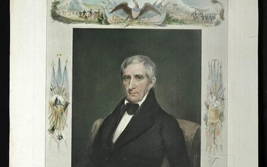 "Engraving of Hoit's ""William Henry Harrison"" ca. 1842"