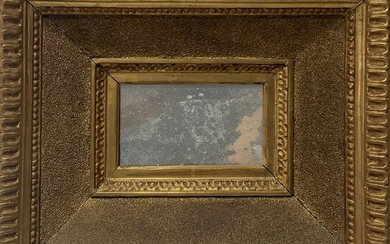 Gilded wooden frame Leaf with rectangular mercury