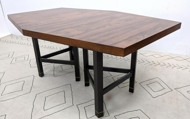 HARVEY PROBBER Rosewood Dining Table. Angled Top with T
