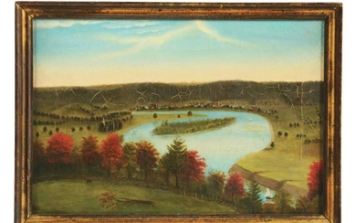 HUDSON VALLEY SCHOOL (MID 19TH CENTURY) VIEW FROM