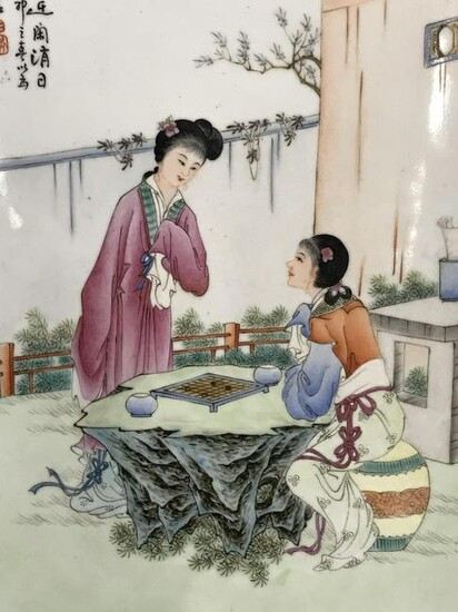 Hand Painted Hanging Chinese Porcelain Tile