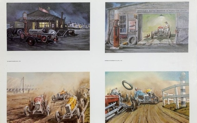 John W. Burgess, Car Scenes Poster, Double Sided