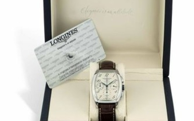 LONGINES - Stainless steel chronograph wristwatch, date