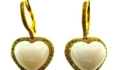 LOVE ME 18k Yellow Gold, Coral & Yellow Diamond Heart