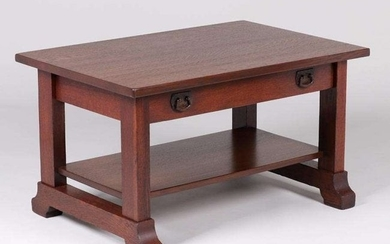 Lifetime Furniture Co One-Drawer Coffee Table c1910