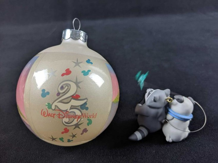 Lot Of Two Retired Disney Ornaments