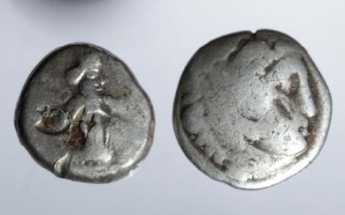 Lot of 2 Greek Silver Coins