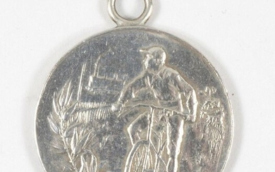 Lot of 5 Velocipedy medals. Various diameters.