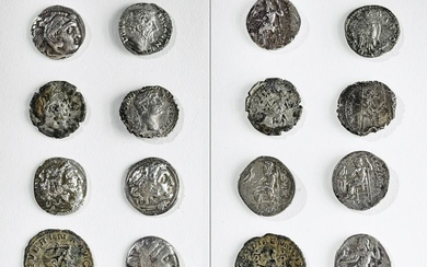 Lot of 8 Greek and Roman Silver & Bronze Coins - 29.9 g