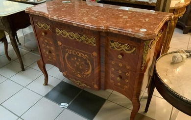 Louis XV Style Marble Top Chest