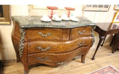 Marble Top Bombé Commode Chest of Serpentine Form (Height 3...