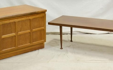 Mid Century Modern Cabinet by Nathan & Coffee Table