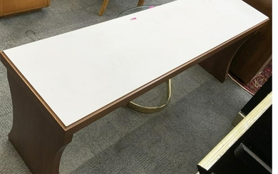 Modern Bench-Style Table w/White Top.