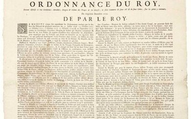 """PROVENCE. 1719. FALSE SALT & FALSE CONTRABAND TOBACCO. """"Order of the King forbidding all Constables, Riders, Dragoons & Soldiers of His Majesty's Troops, to trade in Fake Salt & Fake Tobacco, upon the penalties contained therein."""" (condemned to the..."""