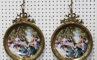 Pair French Style Wall Hangings