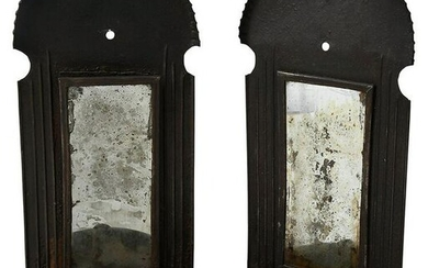 Pair of American Mirrored Tin Wall Sconces