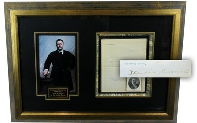 President Theodore Roosevelt TLS Re: Book on