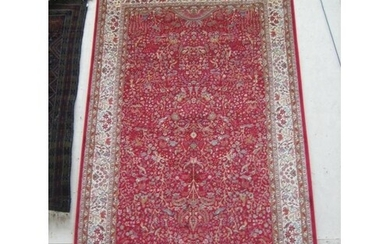 Red Ground Persian Kashmir Carpet from a Power Loom - (3m x ...