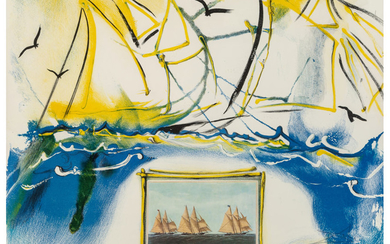 Salvador Dalí (1904-1989), American Yachting Scene, from Currier & Ives as Interpreted by Salvador Dali (1971)
