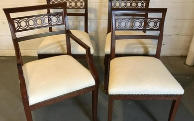 Set of Biedermeier Style Dining Room Chairs
