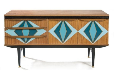 Sideboard, G Type G in Melamine painted in blue with
