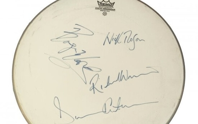Signed FULL ROCK BAND Drum Head PINK FLOYD