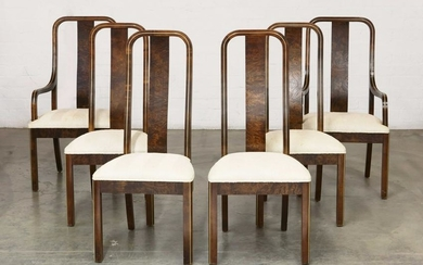 Six Century Art Deco style dining chairs