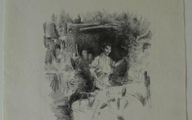 The Blacksmith, 1895/96.(Chicago 127 III/III; Levy 128; Way 90). Transfer lithograph in black, with stumping, printed on fine handmade laid paper with watermark O.W.P & A.C.L.